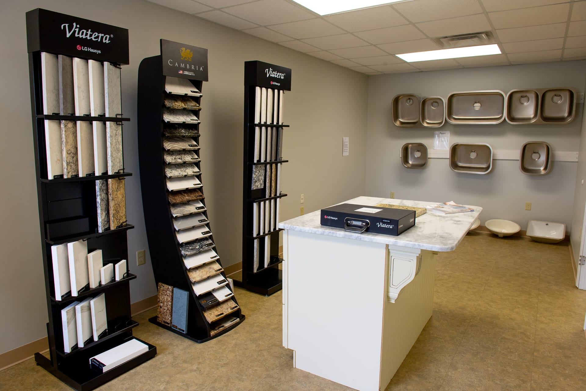 Countertop and sink gallery - by Magnolia Countertops. A Countertop fabricator of Granite Countertops, Marble Countertops, and Quartz Countertops in Cookeville and Crossville TN.